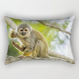 Common Squirrel Monkey Rectangular Pillow
