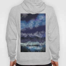 Starry night in the valley Hoody