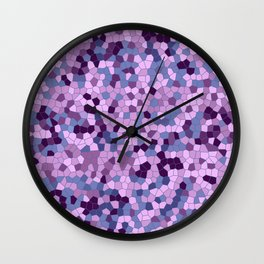 Mosaic pattern purple violet pink color Wall Clock