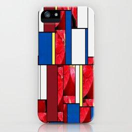 Mottled Red Poinsettia 2 Art Rectangles 4 iPhone Case