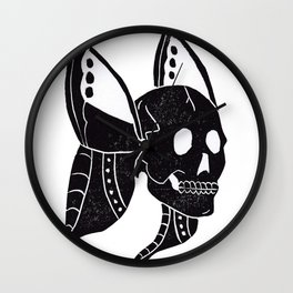 Winged Skull Wall Clock