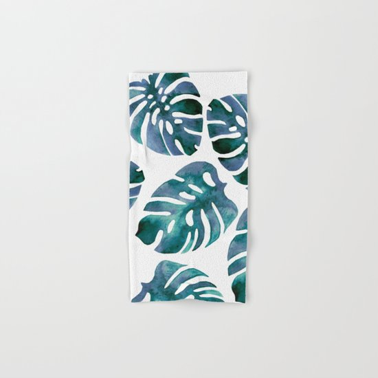 Monstera Blue Hand & Bath Towel
