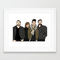 bastille Framed Art Prints featuring Bastille by wellsi