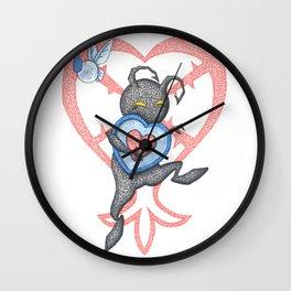 Heartless Stealing Piece of Heart Wall Clock