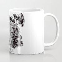 kaiju Mugs featuring Camp Kaiju by Austin James