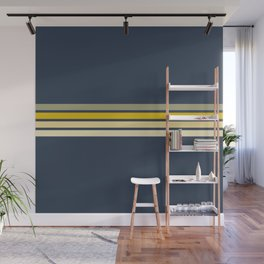 Racing Retro Stripes Wall Mural