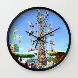 Carnival  Zipper 2 Wall Clock