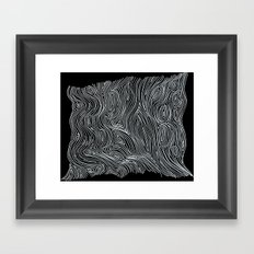 inverted brain map Framed Art Print
