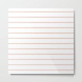 Millennial Pink Breton Stripes Metal Print