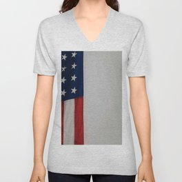 Side Flag (Color) Unisex V-Neck