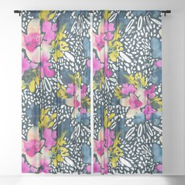 Everlasting Blooms - Outline Sheer Curtain