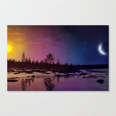 Day And Night - Painting Canvas Print