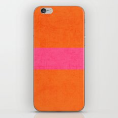 orange and hot pink classic iPhone Skin