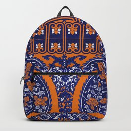 HOMEMADE BLUE ORANGE PATTERN Backpack