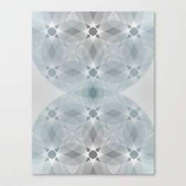 Colliding Circles in Teal and Grey Canvas Print