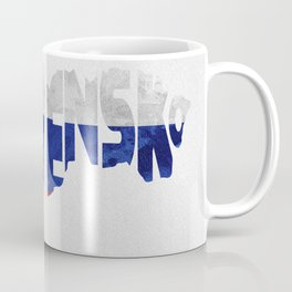 Slovensko / Slovakia Typographic Flag / Map Art Coffee Mug