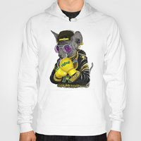 hiphop Hoodies featuring Boxing Cat 3 by Tummeow