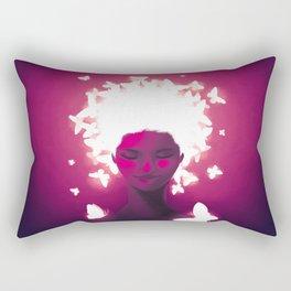 Luminescent Fuchsia Rectangular Pillow