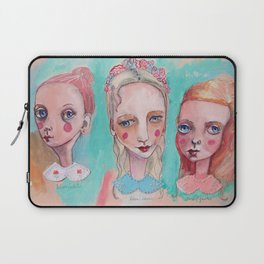 White, Blue and Pink Collared Laptop Sleeve
