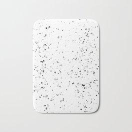Black and White Spilled Ink Splatter Splashes Speckles Bath Mat