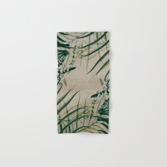 Cycas Leaves Abstract Hand & Bath Towel