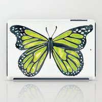 lime iPad Cases featuring Lime Butterfly by Cat Coquillette