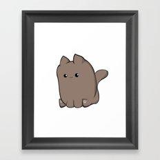 Cube Cat Framed Art Print