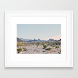 Mule Ears Framed Art Print