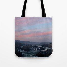 great falls sunset Tote Bag