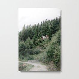 Mountain cabin in Austria | Travel Photography Austria Wall Art Metal Print