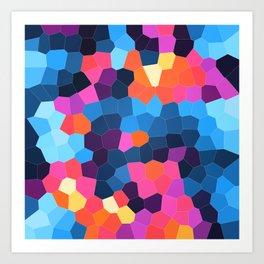 Geometric Brights Art Print