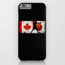 Boxing Men Canada Flag Tokyo 2021 Japan Flag iPhone Case