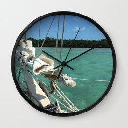 Sailing Schooner Bowsprint Wall Clock