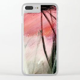 Train of thought: a vibrant abstract mixed media piece Clear iPhone Case