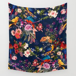 FLORAL AND BIRDS XII Wall Tapestry