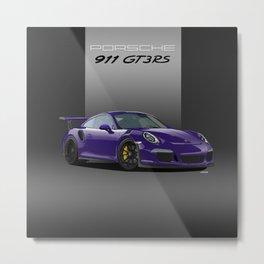 Porsche 911 GT3 RS in Ultraviolet Metal Print