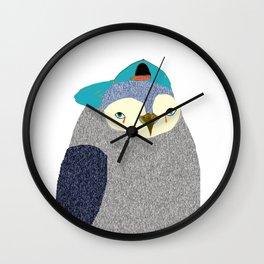 Penguin Dude, penguin art, penguin illustration, penguin, penguin print, Wall Clock