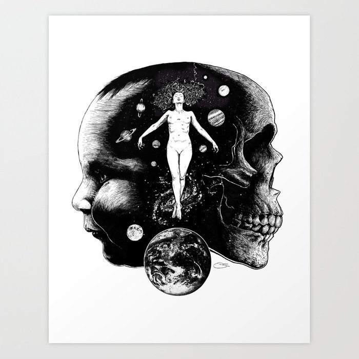Harmonic Dance of Death & Rebirth Art Print