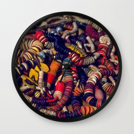 Strings of Colorful Beads Wall Clock