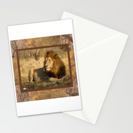 CW-002 Male Lion Stationery Cards