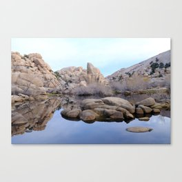 Dawn at Barker  Dam Canvas Print