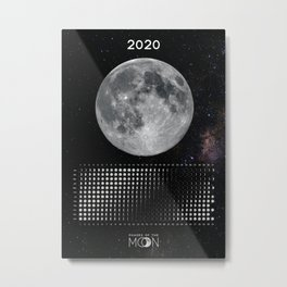 Moon calendar 2020 #5 Metal Print