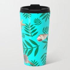 leaf coral Metal Travel Mug
