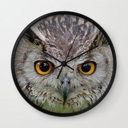 Owl Eyes Wall Clock