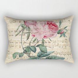 Rose Poetry Rectangular Pillow