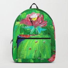 Flowering Prickly Pear Cacus Backpack