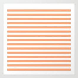 Cantaloupe and White Stripes Art Print