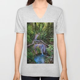 Valley of 33 waterfalls Unisex V-Neck