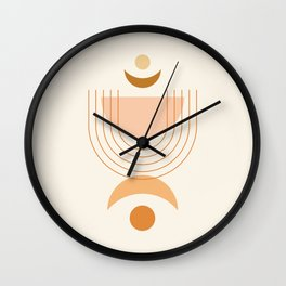 Moon Phases in Earthy Themed 2 Wall Clock