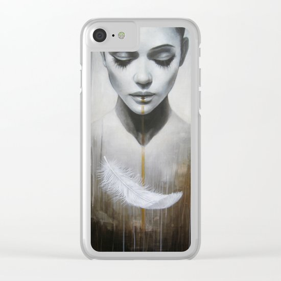 plume Clear iPhone Case